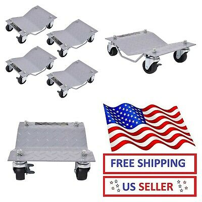 "4x3"" Tire Wheel Dollies Dolly Vehicle Car Auto Repair Moving Skate Diamond Gray"