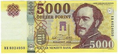 Hungary, 2016 5,000 Forint P-205a  ((Unc)