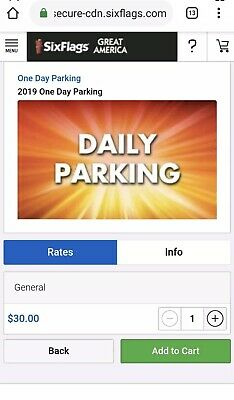 Any Six Flags Park! Great Adventure Magic Mountain etc Day Parking Pass 2020