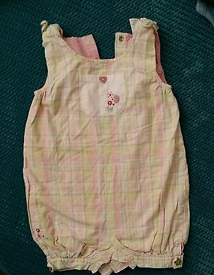 6-9 months girl summer dungaress outfit playsuit jumpsuit   next