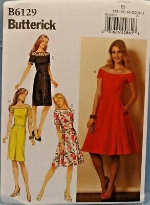 Butterick Ladies Easy Sewing Pattern 6129 Vintage Style Dresses Butterick-61...