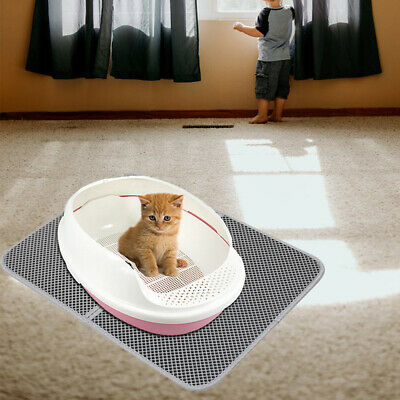 Waterproof Double-Layer Cat Litter Mat Trapper Foldable Pad Pet Rug Home  NEW