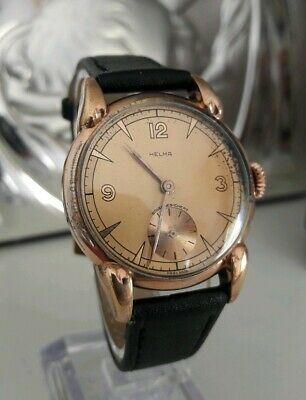 Helma wristwatch  AS1130  German Vintage ww2 era Wehrmachtswerke dienstuhr Swiss