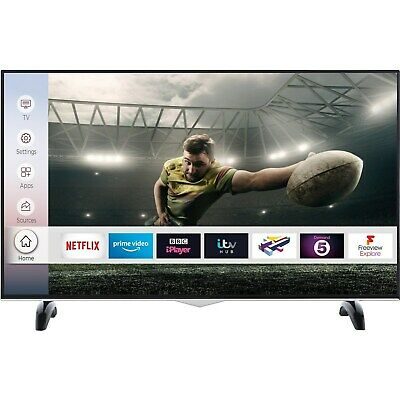 electriQ 43 Inch Smart 4K Ultra HD Dolby Vision HDR LED TV Freeview HD 3 HDMI
