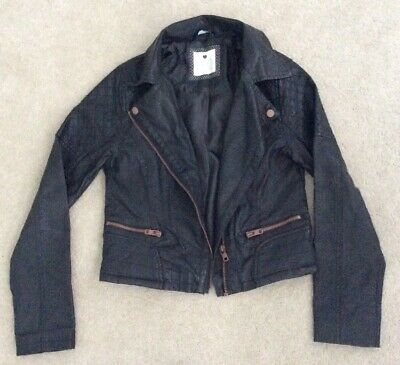 Kylie M&Co Girls Leather Jacket Age 12 Years