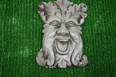 New extra thick latex mould mold of a GREEN MAN   plaque  17CMS X 10CMS