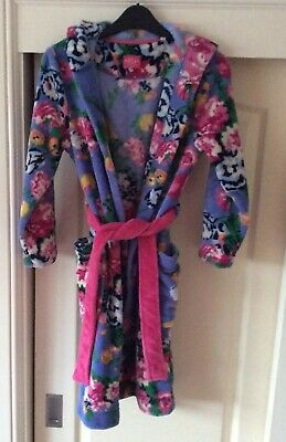 Joules Girls Floral Dressing Gown Age 11-12 VGC