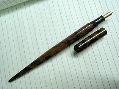 Ebonite Desk Fountain Pen - Ezhuthani -  Dark Brown-Blk Mottled