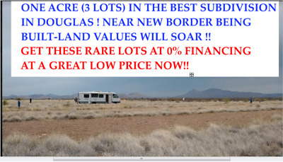"1 Acre For Sale! Actual Photos Of The 3 Lots In 'Opportunity Zone""  Douglas, Az"