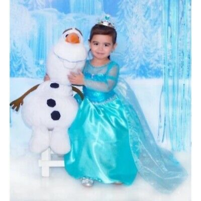New Elsa Frozen Princess Girls Baby Fancy Dress Costume Birthday Party 1-8 Years