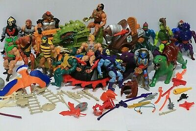 Vtg 1980s HE-MAN Masters of the Universe Action Figures x 20 + Weapons  - 250