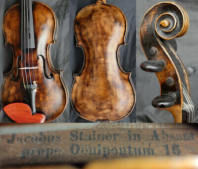 FINE! 4/4 ANTIQUE BAROQUE GERMAN STEINER VIOLIN c.19th  fiddle 小提琴 ヴァイオリン скрипк
