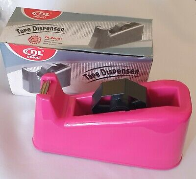 Heavy Duty Tape Dispenser In Bright Pink  Colour, Office~Home~School~None Slip
