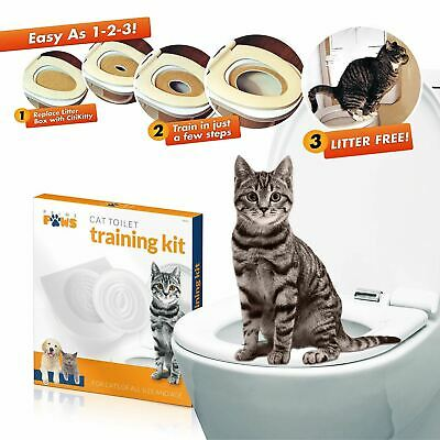 Cat Toilet Training Seat Trail Kitty Potty Training System Litter Free Kit
