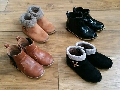 River Island Girls Tan & Black Chelsea Ankle Boots Bundle Infant Size 6