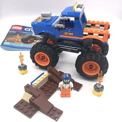 LEGO City Monster Truck Set # 60180 W/Building Instructions - Pre-Owned -A4