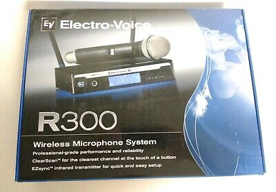 EV Electro Voice R300-HD Wireless Handheld Microphone System PL22 - Free Ship!