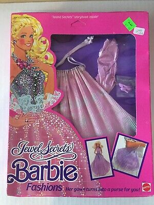 #1861 .. Gown Becomes Purse For You 1986 Jewel Secrets Barbie Yellow Fashions