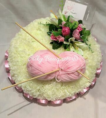 Mothers Day Artificial Silk Funeral Flower Teddy Memorial Wreath Ring Tribute