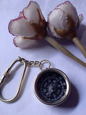 Compass Key Chain Antique Handmade Key Ring Nautical solid Brass