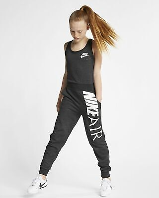 Nike Air Jumpsuit Older Girls Size L 12-13 Years (146-156Cm) Aq8909 032 / Grey
