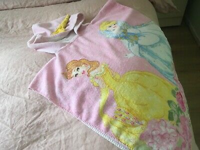 Childrens Disney Princess  Towel Hooded Cape One Size Age 2-5