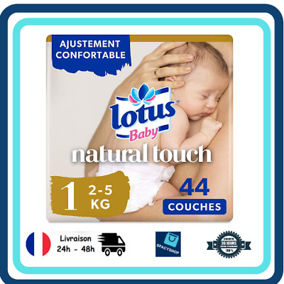 - x44 couches 88 couches Couches Taille 1 Lotus Baby Natural Touch /  Lot de 2 2-5 kg//Nouveau-N/é