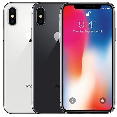 apple iPhone X 64GB 256GB Unknown carrier Smartphone Cell Phone Grey Silver part
