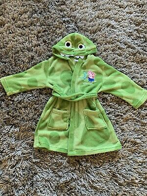 Peppa Pig 'George's Dinosaur' Dressing Gown Aged 3-4 Years