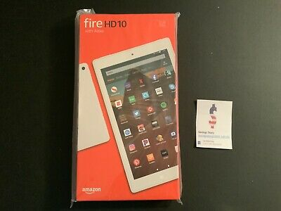 "Amazon Fire HD 10 Tablet 10.1"" Display 32 GB (9th Generation) - WHITE Alexa New"