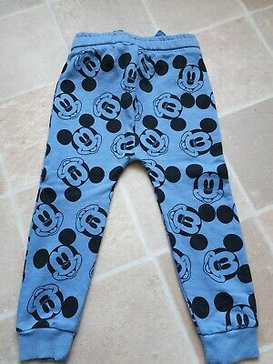 Next Boys Mickey Mouse Joggers Blue 2-3 Years BNWOT RRP £15