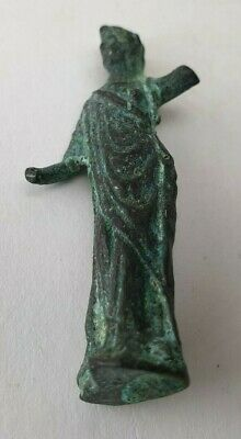 Ancient  Bronze-in original style  Amulet mini Figure GOD Roman