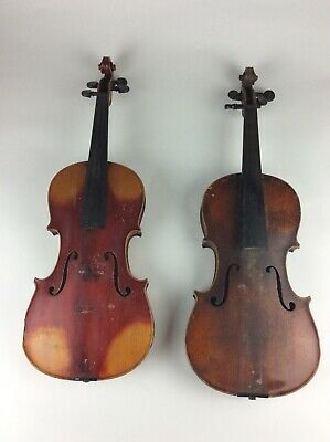 2 Antique maple Violins Stradivarius