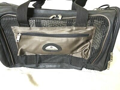 "Samsonite Black 19"" Pet Carrier Bag With Shoulders Strap 19x9x9 Excellent"
