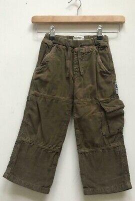 Boys Timberland Khaki Corduroy Cord Straight Trousers Size Kids Age 3 Years