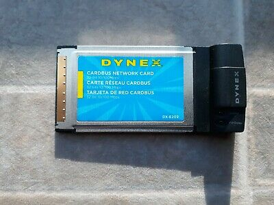 Dynex DX-E202 10//100 MBPS Ethernet Card BUS Network Card PCMCIA for Laptop