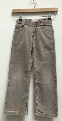 Boys Timberland Dark Beige Corduroy Cord Straight Trousers Size Kids Age 6 Years