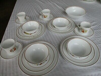 Corelle Corning Ware Indians Summer 21 Piece 4 Place settings Plus Serving Bowl