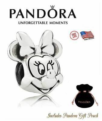 New Authentic Pandora Silver S925 ALE Disney Parks Minnie Portrait Charm #791587