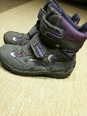 Geox girls Leather  Snow Winter Boots Size 12 Eu 31