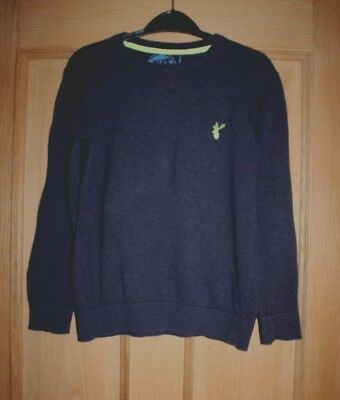 Boys Blue Zoo Navy Jumper Age 9-10 Years