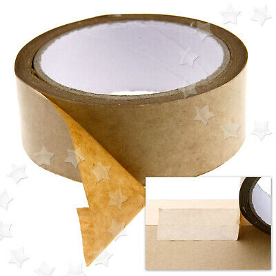 Brown Self Adhesive Picture Frame Backing Tape Anti Clip 50m Length 38mm Width