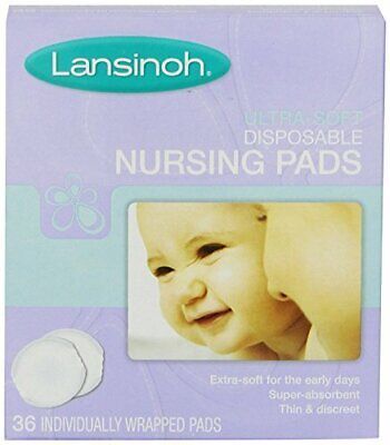 TL Care Twin Pack Nursing Pads made with Organic Cotton Natural Color 12 Count