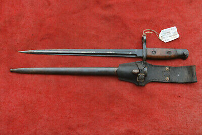 BELGIUM 1916 INFANTRY BAYONET for 1889 MAUSER RIFLE & SCABBARD, FROG