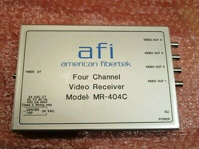 American Fibertek 4 Channel Video Transmitter MR-404C with Power Supply