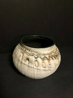 Artist Signed Jennifer Cherpock Serenity Ceramics Studio Art Pottery Carved Vase