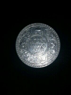 1919 India Rupee Silver coin great condition