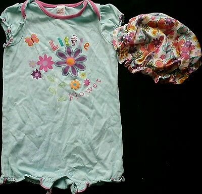 Next girl summer holiday beach jumpsuit playsuit outfit 12-18 months with hat
