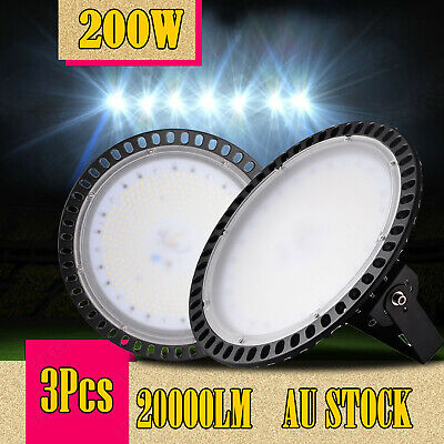 3X 200W Slim LED High Bay Light Fixture Warehouse Industrial Factory Shed Gym AU