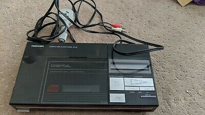 TOSHIBA SINGLE DISK CD PLAYER COMPACT DISC PLAYER XR-J9 Rare 80's. Great cond.